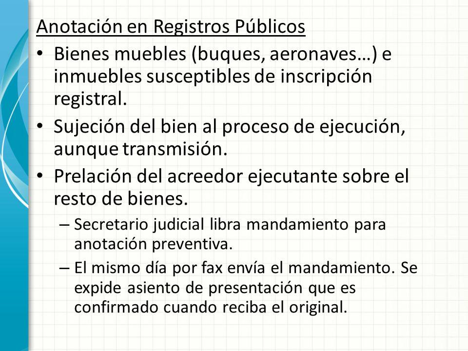 Anotación en Registros Públicos
