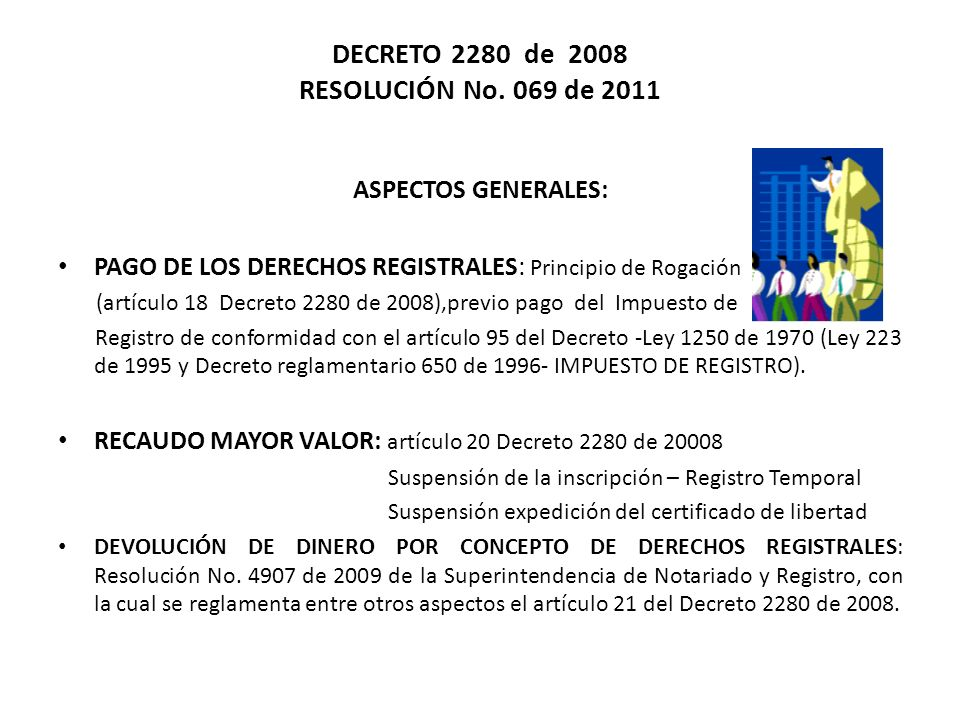 DECRETO 2280 de 2008 RESOLUCIÓN No. 069 de 2011