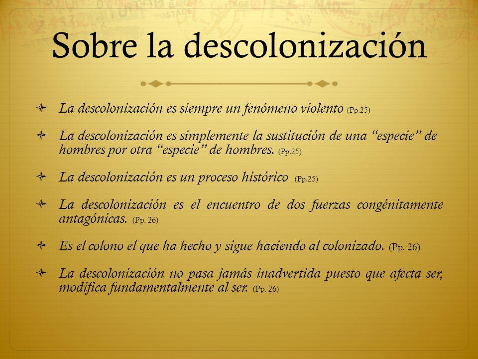 Sobre la descolonización