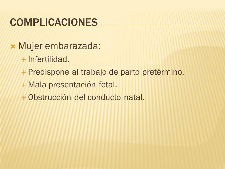 COMPLICACIONES Mujer embarazada: Infertilidad.