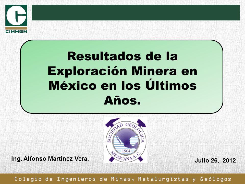 Resultados de la Exploración Minera en México en los Últimos Años.