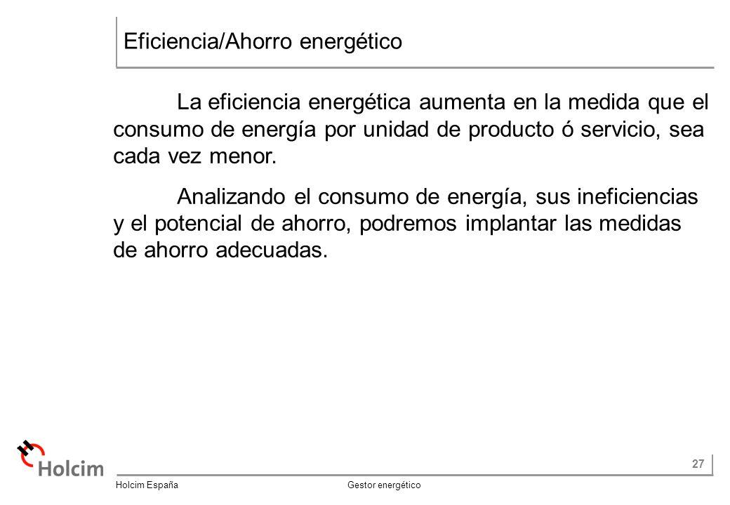 Eficiencia/Ahorro energético