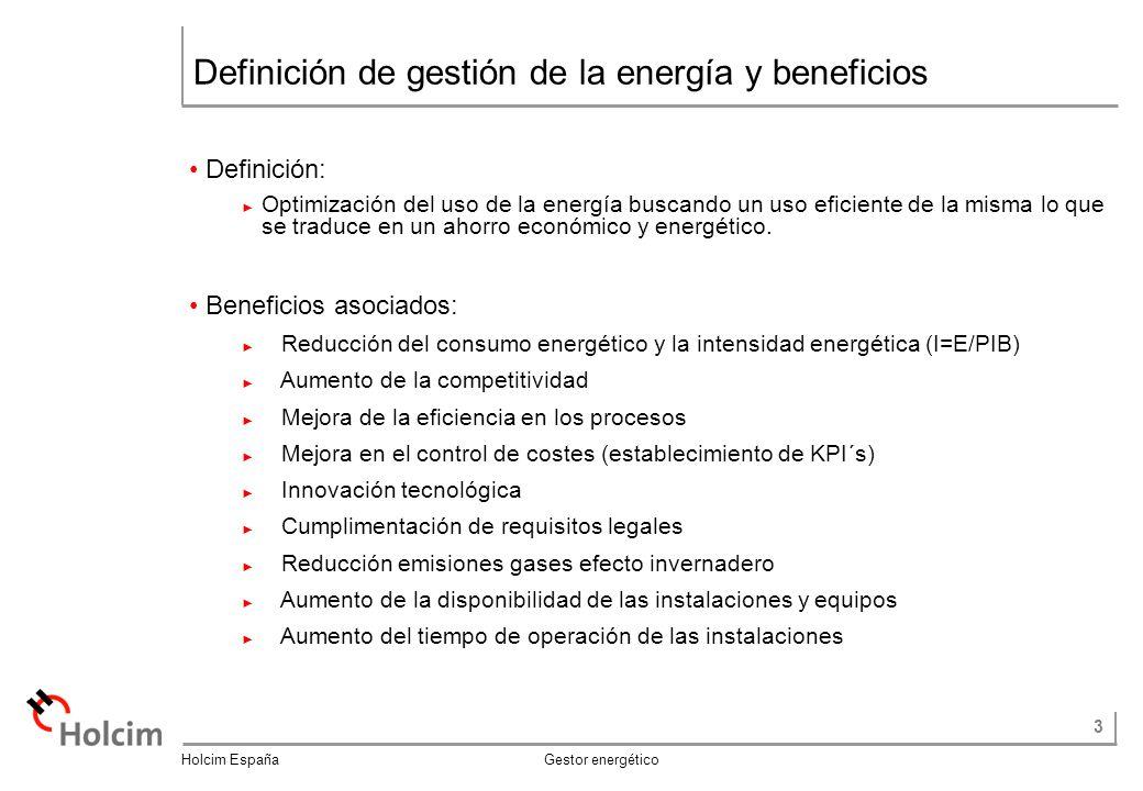 Definición de gestión de la energía y beneficios
