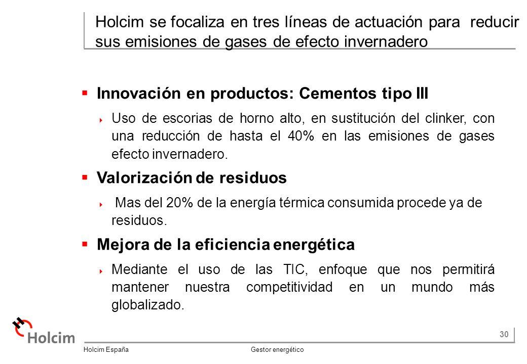 Innovación en productos: Cementos tipo III