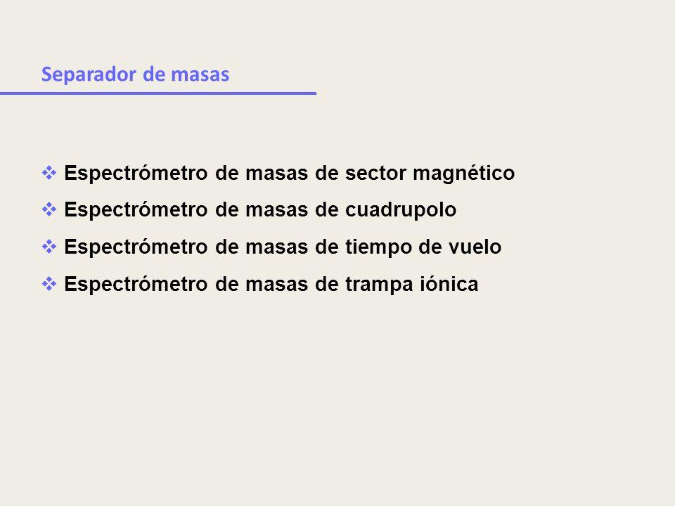Separador de masas Espectrómetro de masas de sector magnético