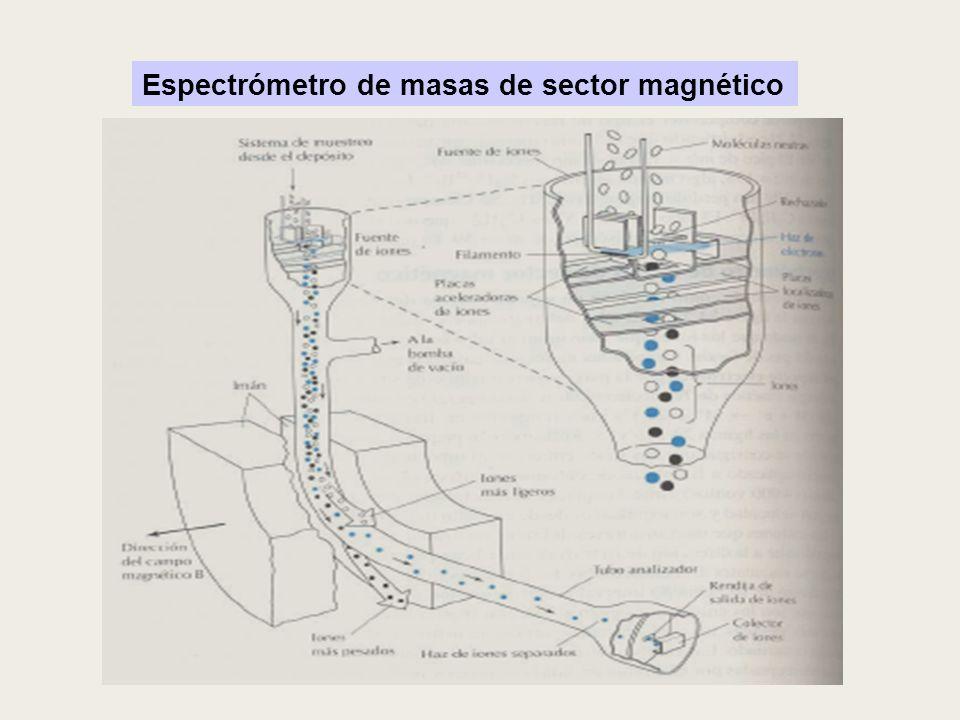 Espectrómetro de masas de sector magnético