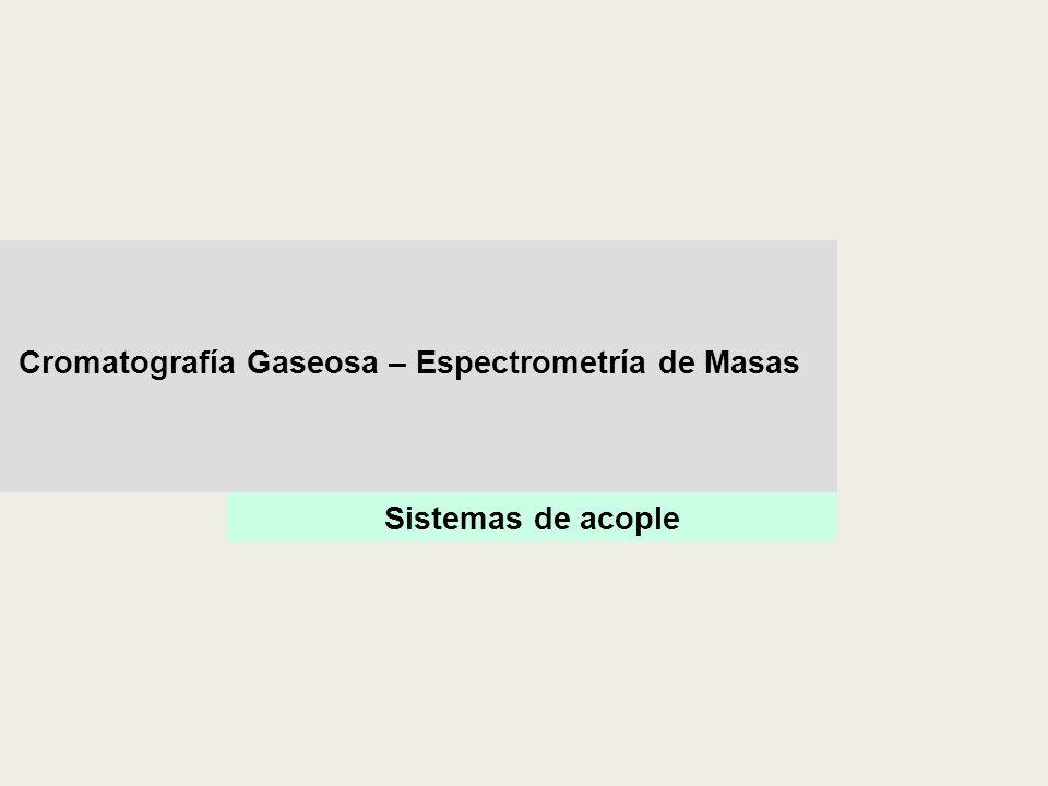 Cromatografía Gaseosa – Espectrometría de Masas