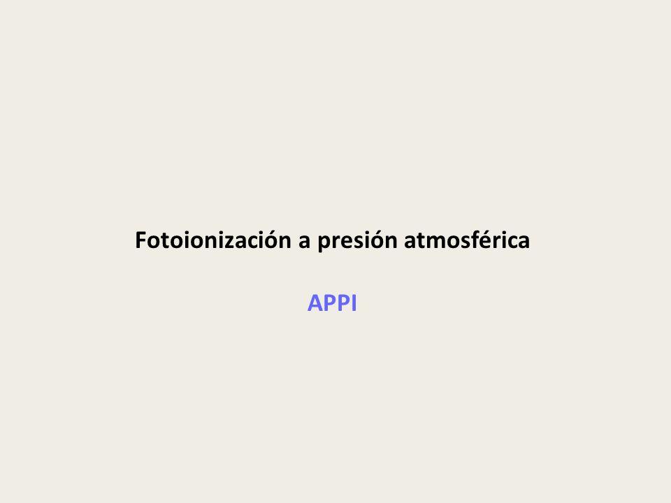 Fotoionización a presión atmosférica