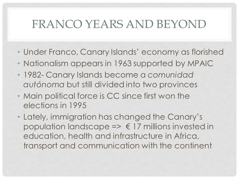 Franco Years and Beyond