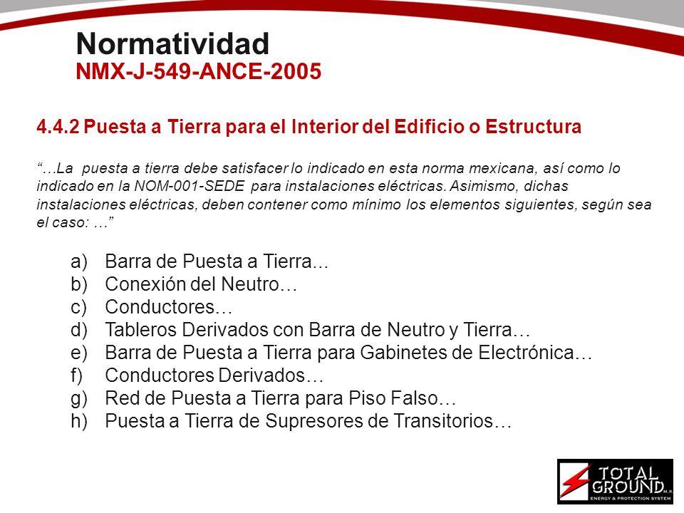 Normatividad NMX-J-549-ANCE-2005