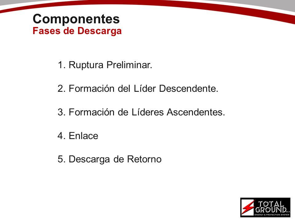 Componentes Fases de Descarga Ruptura Preliminar.