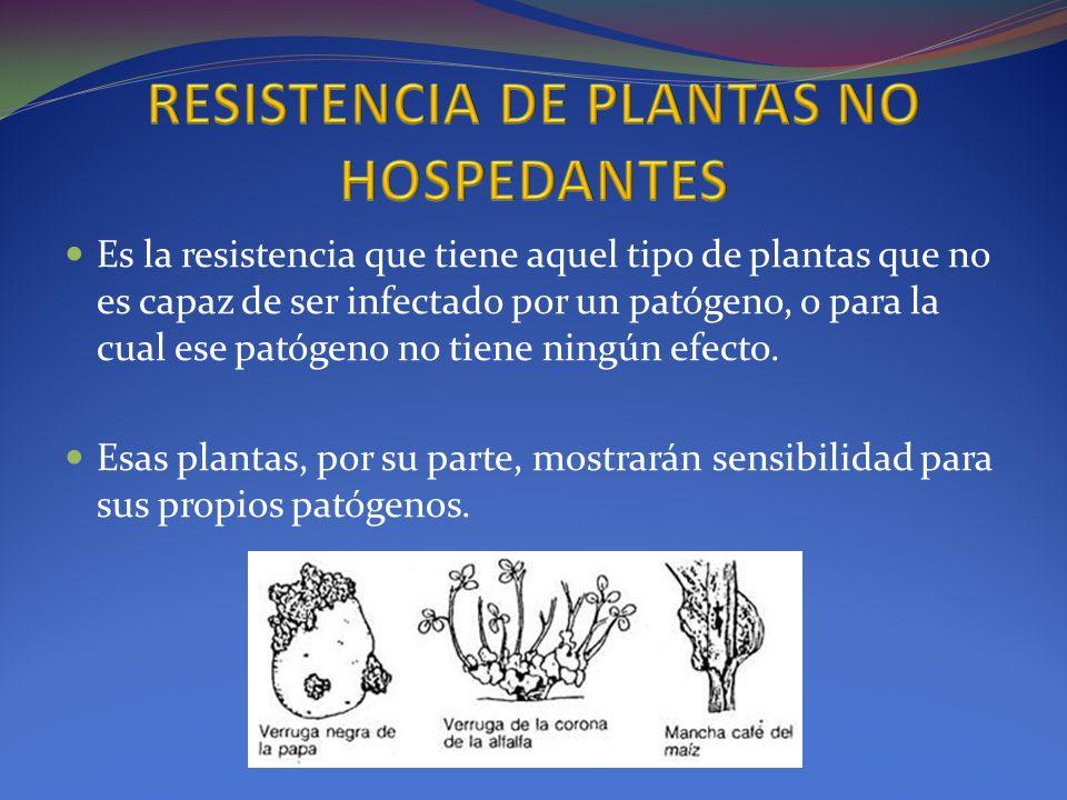 RESISTENCIA DE PLANTAS NO HOSPEDANTES