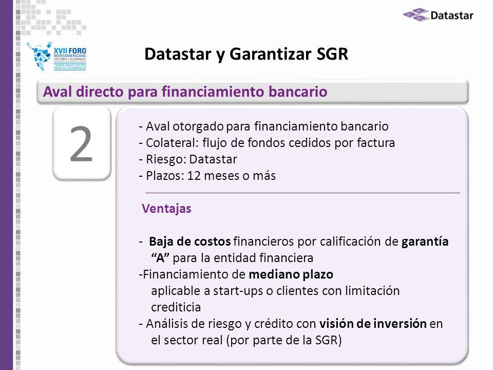 Datastar y Garantizar SGR
