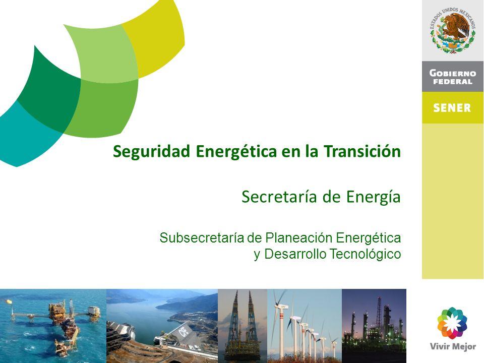Seguridad Energética en la Transición Secretaría de Energía