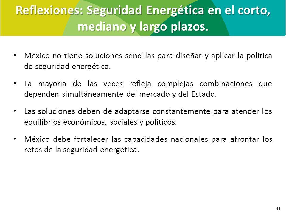 Reflexiones: Seguridad Energética en el corto, mediano y largo plazos.