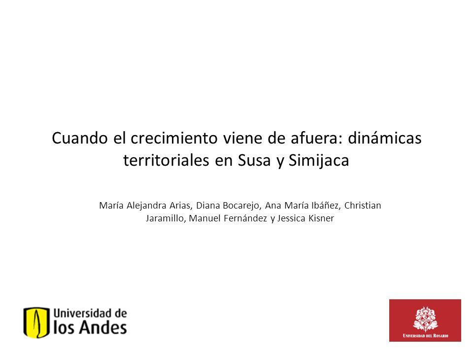 Cuando el crecimiento viene de afuera: dinámicas territoriales en Susa y Simijaca