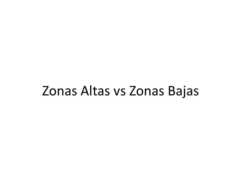 Zonas Altas vs Zonas Bajas