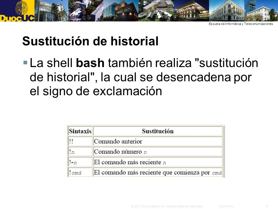 Sustitución de historial