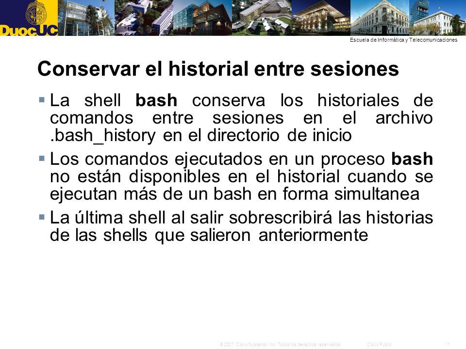 Conservar el historial entre sesiones
