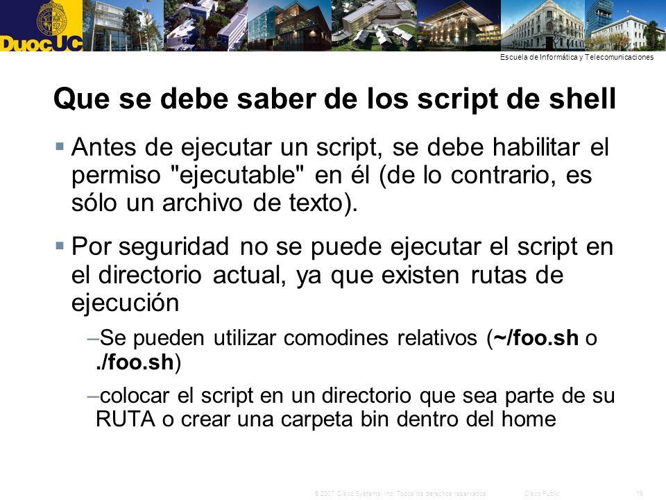 Que se debe saber de los script de shell