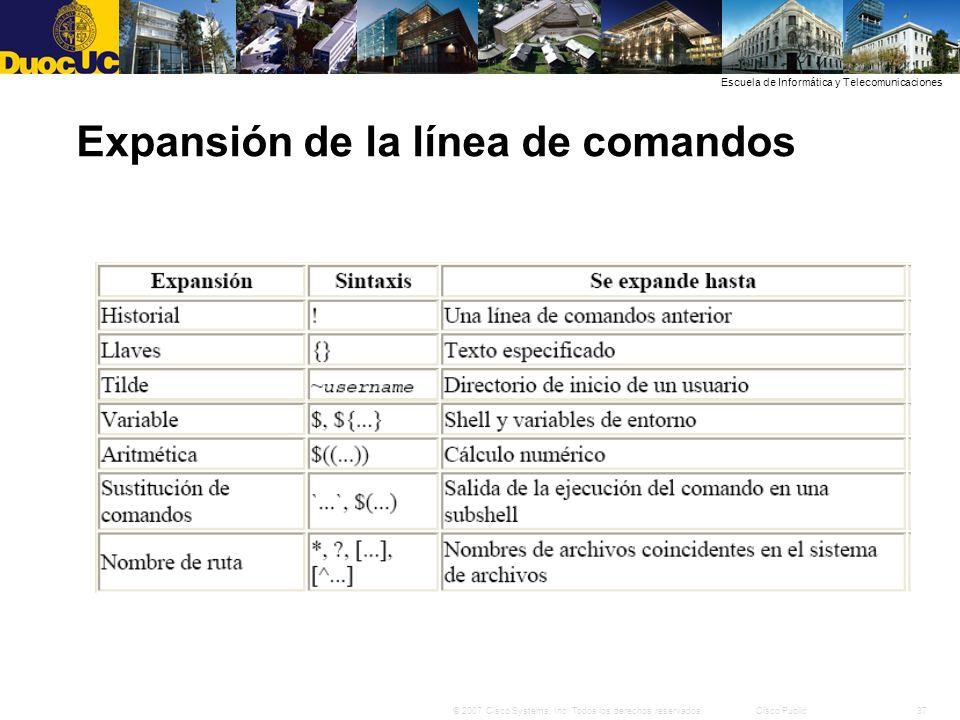 Expansión de la línea de comandos