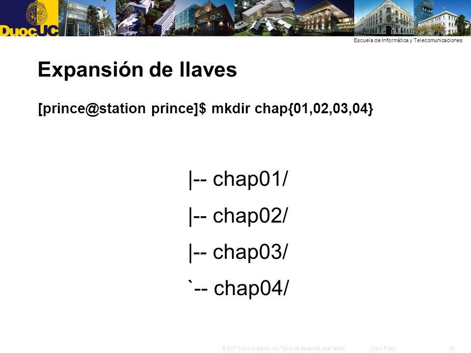 Expansión de llaves |-- chap01/ |-- chap02/ |-- chap03/ `-- chap04/