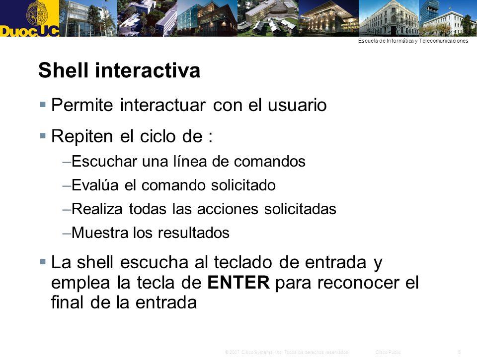 Shell interactiva Permite interactuar con el usuario