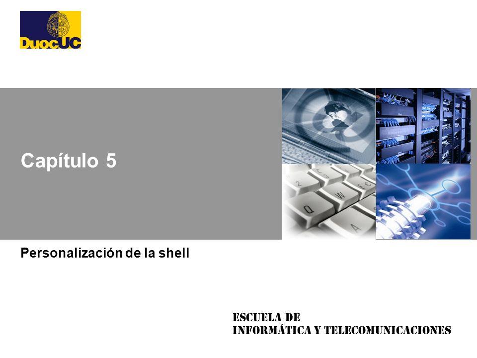 Personalización de la shell