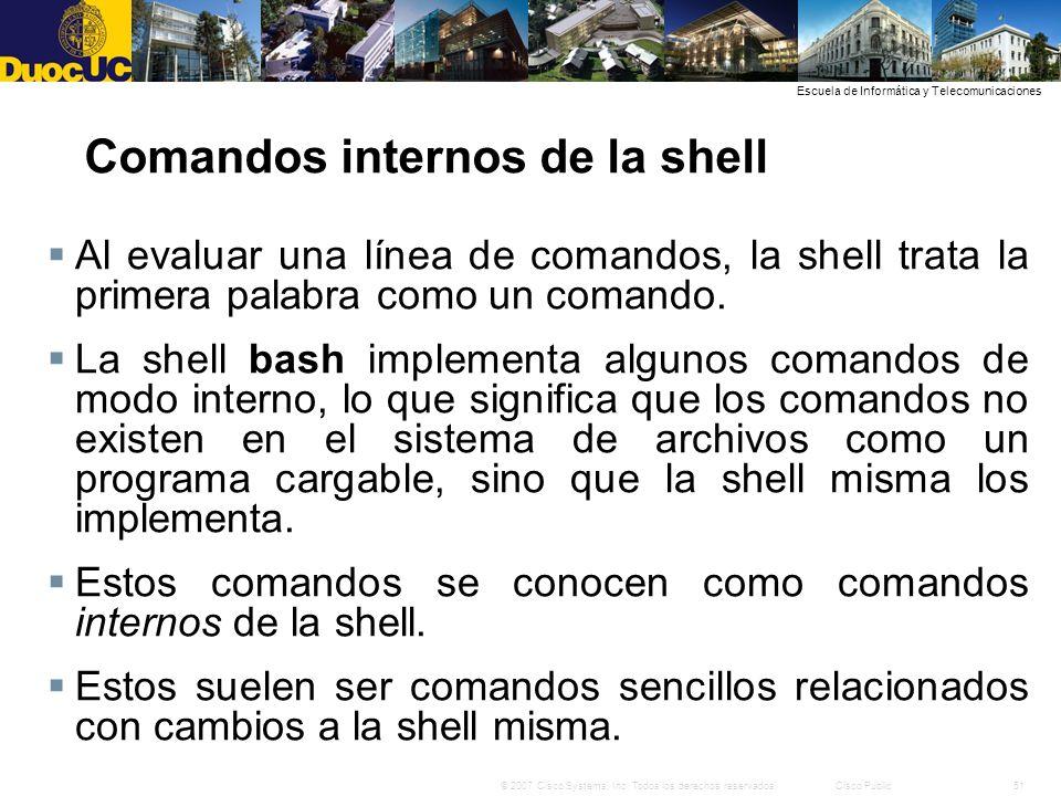 Comandos internos de la shell
