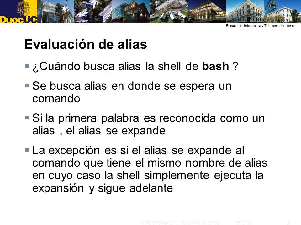 Evaluación de alias ¿Cuándo busca alias la shell de bash