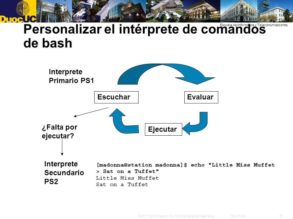 Personalizar el intérprete de comandos de bash