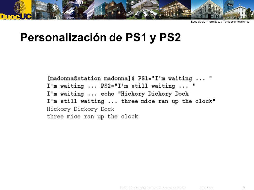 Personalización de PS1 y PS2