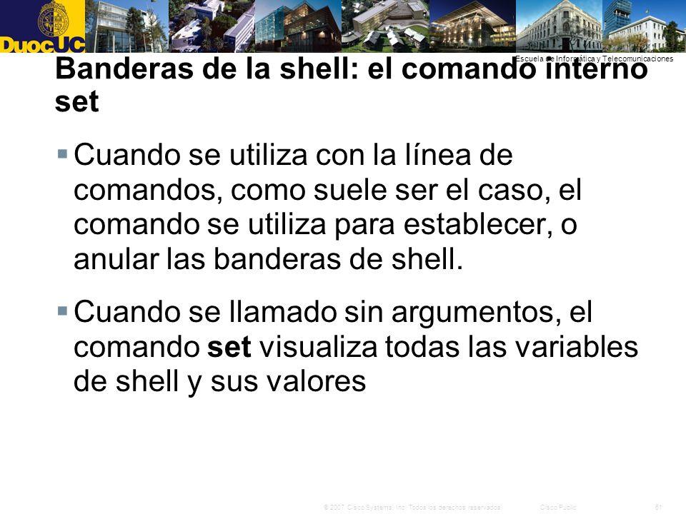Banderas de la shell: el comando interno set