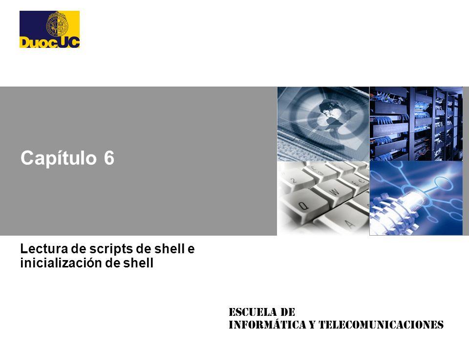 Lectura de scripts de shell e inicialización de shell