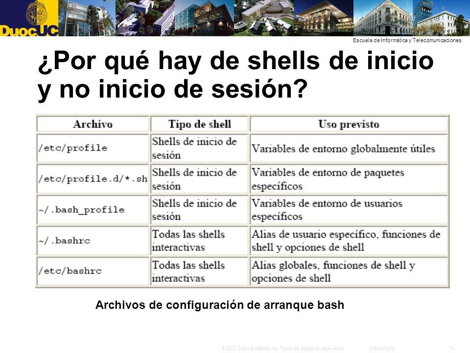 ¿Por qué hay de shells de inicio y no inicio de sesión
