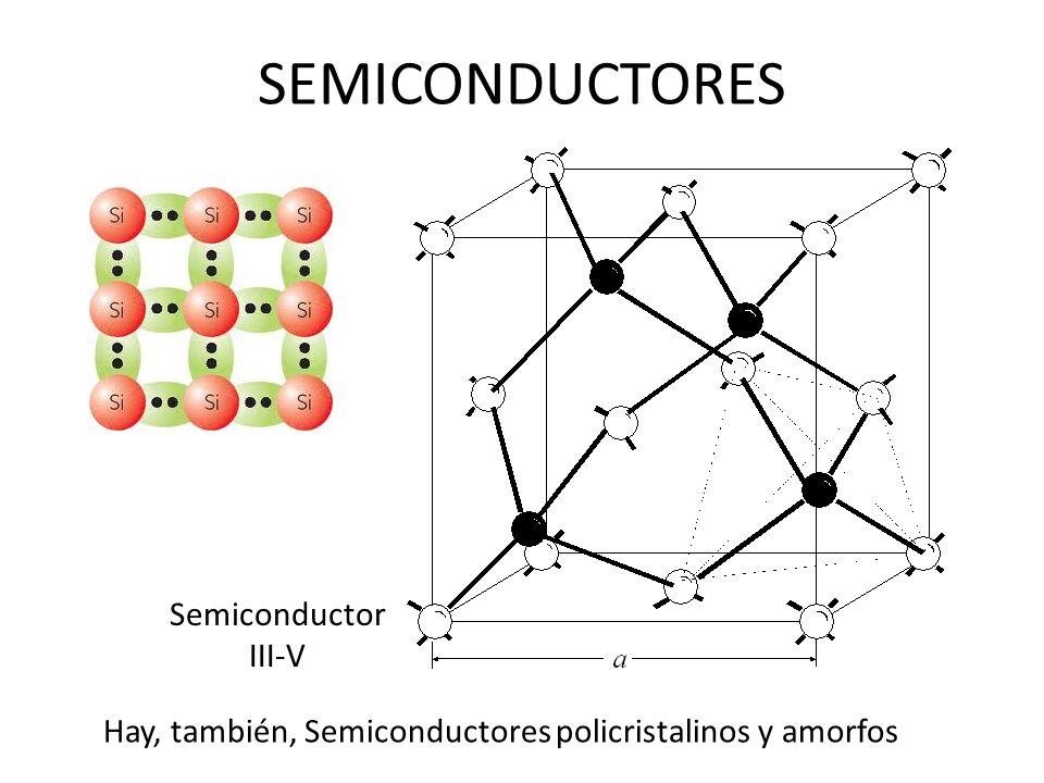 SEMICONDUCTORES Semiconductor III-V Hay, también, Semiconductores policristalinos y amorfos
