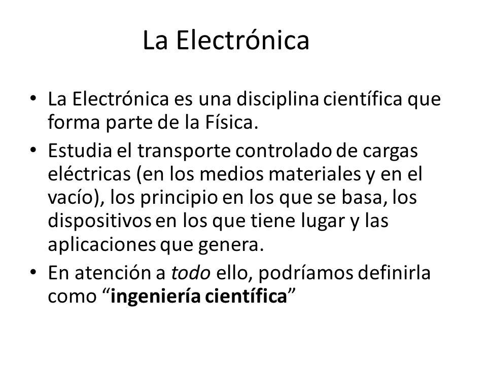 La Electrónica La Electrónica es una disciplina científica que forma parte de la Física.