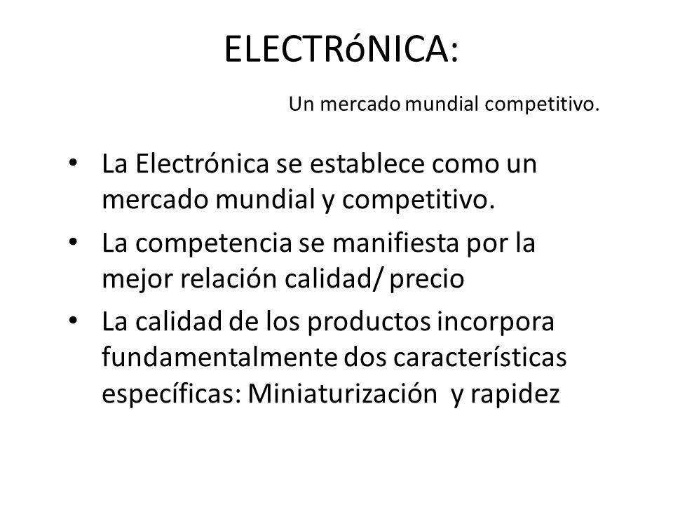 ELECTRóNICA: Un mercado mundial competitivo.