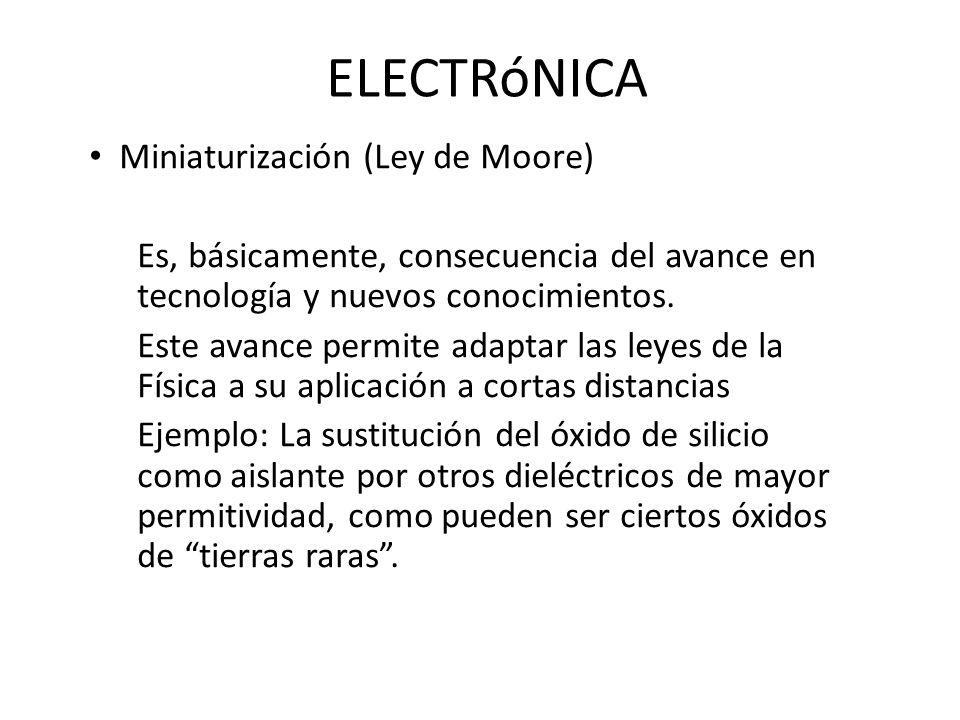 ELECTRóNICA Miniaturización (Ley de Moore)