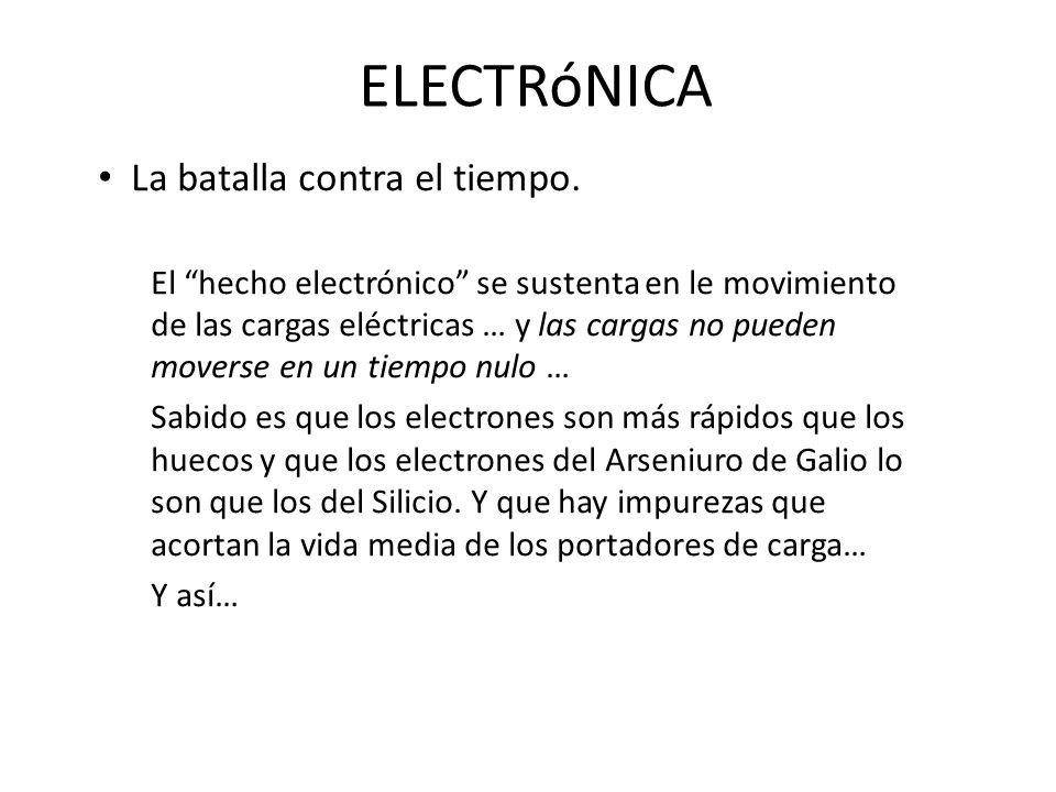 ELECTRóNICA La batalla contra el tiempo.