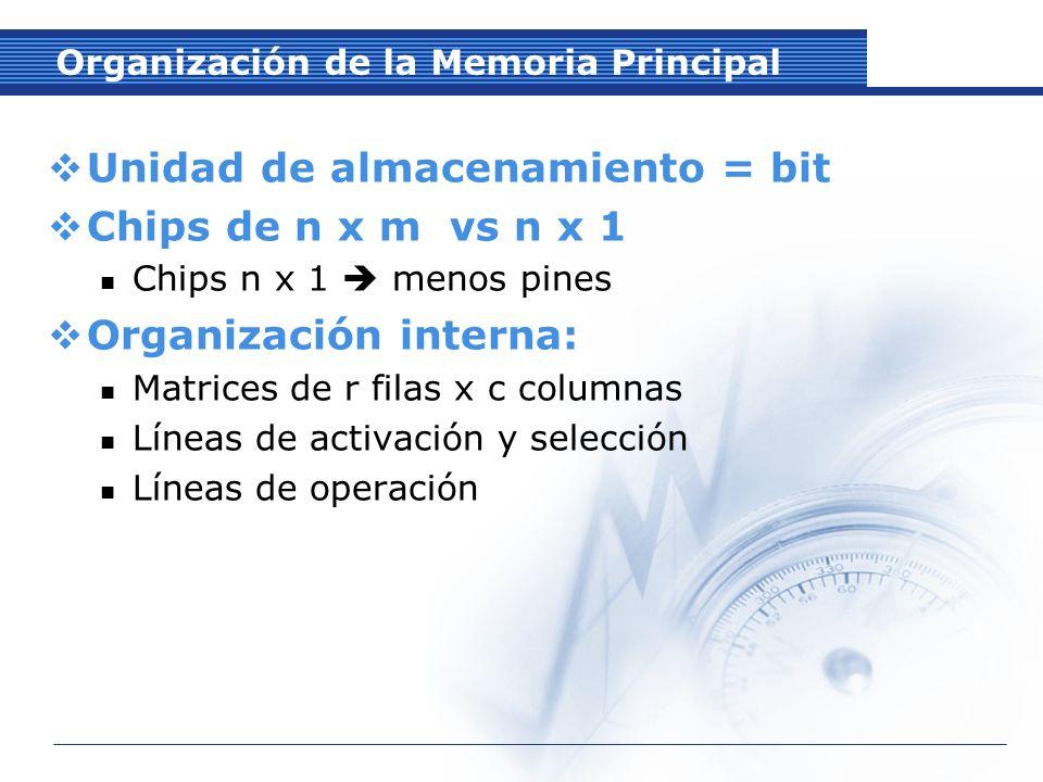 Organización de la Memoria Principal