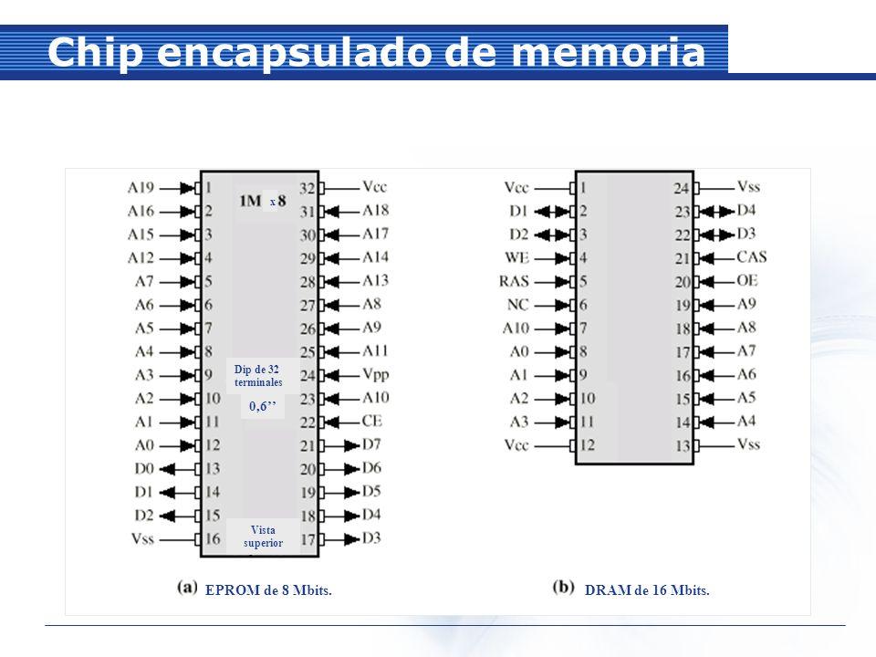 Chip encapsulado de memoria