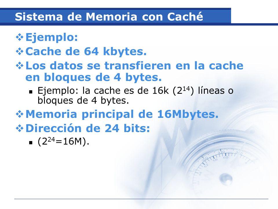 Sistema de Memoria con Caché