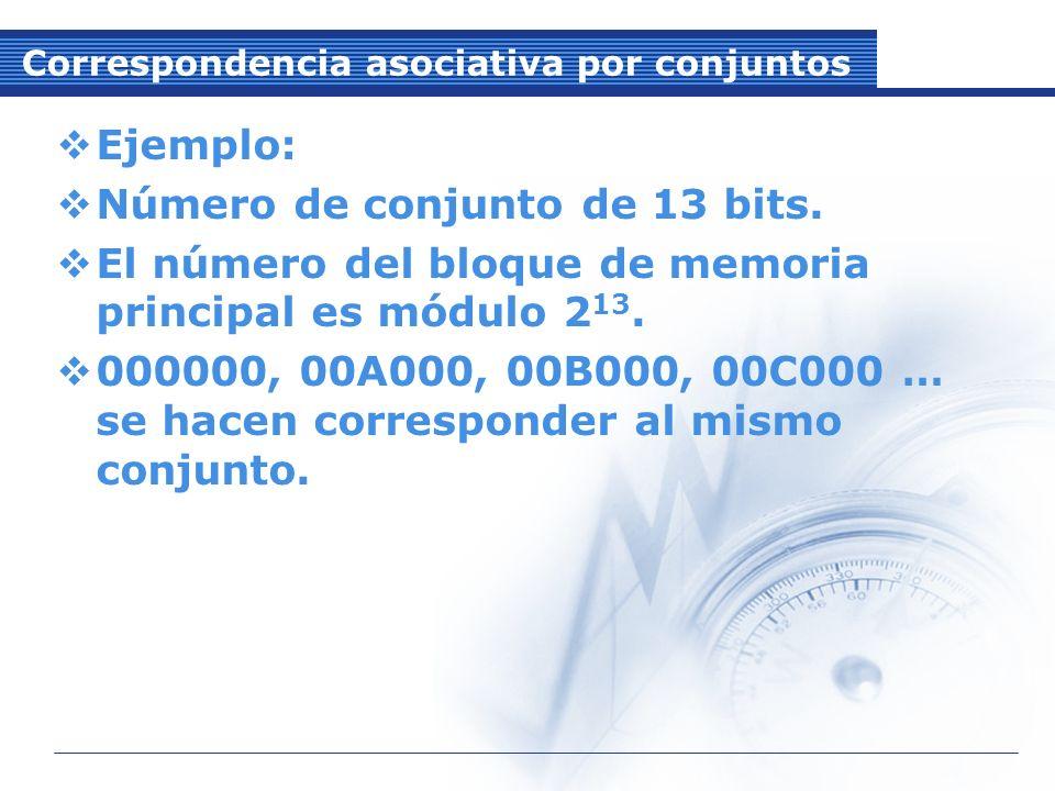Correspondencia asociativa por conjuntos