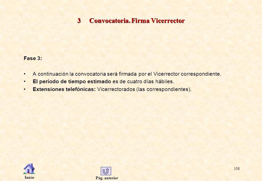 3 Convocatoria. Firma Vicerrector