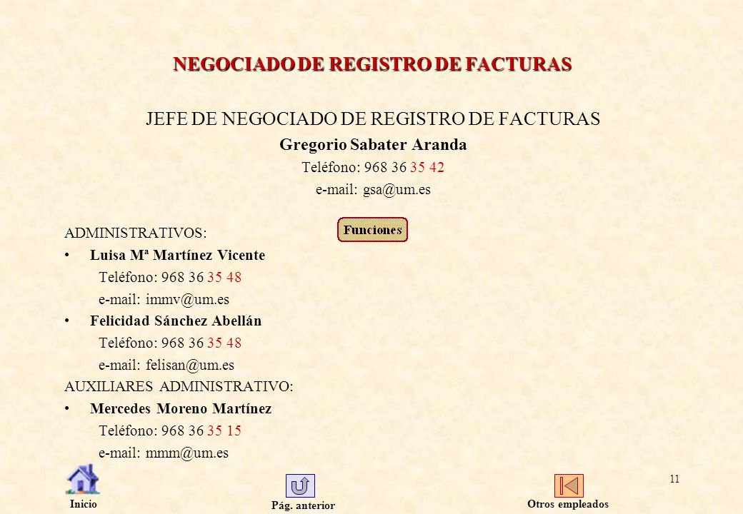 NEGOCIADO DE REGISTRO DE FACTURAS