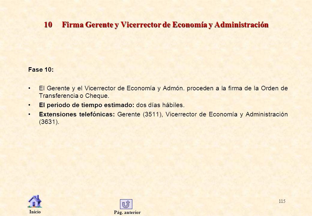 10 Firma Gerente y Vicerrector de Economía y Administración
