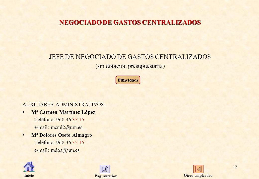 NEGOCIADO DE GASTOS CENTRALIZADOS