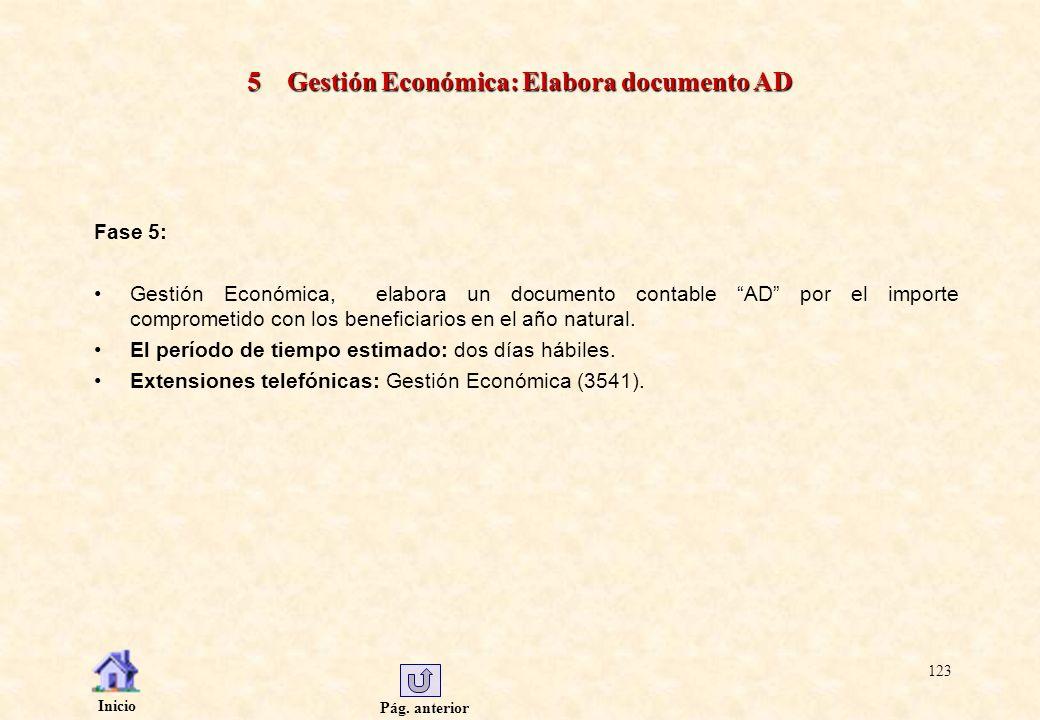 5 Gestión Económica: Elabora documento AD