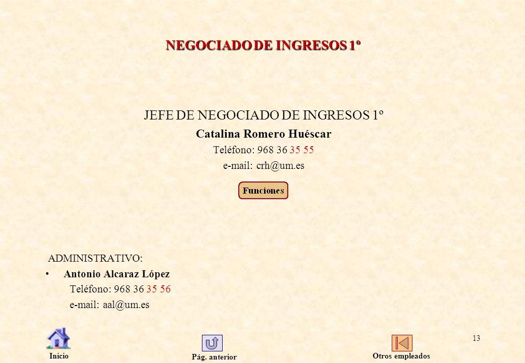 NEGOCIADO DE INGRESOS 1º